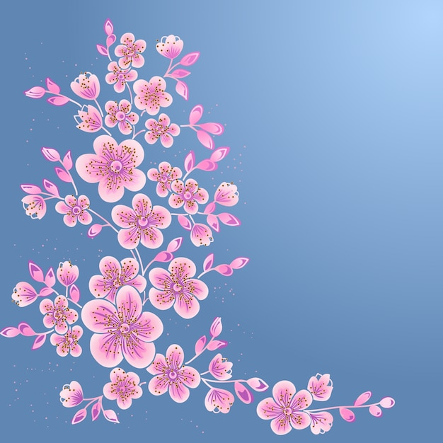 Hand drawn decorative vector floral elements for design. page decoration element. Free Vector