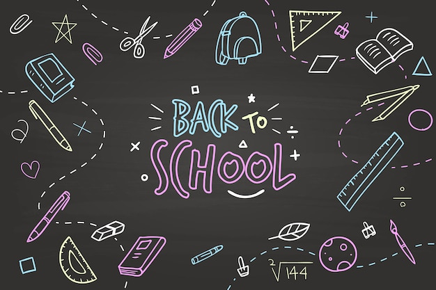 Hand drawn design back to school background Free Vector
