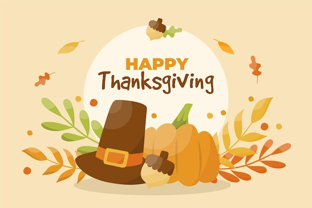 Hand drawn design thanksgiving background Free Vector