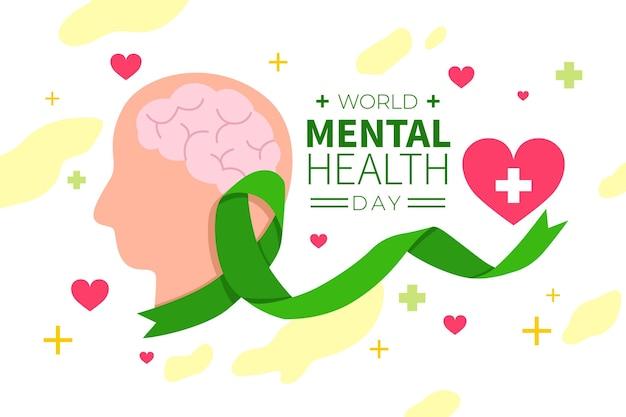 Ручной обращается дизайн всемирный день психического здоровья Premium векторы