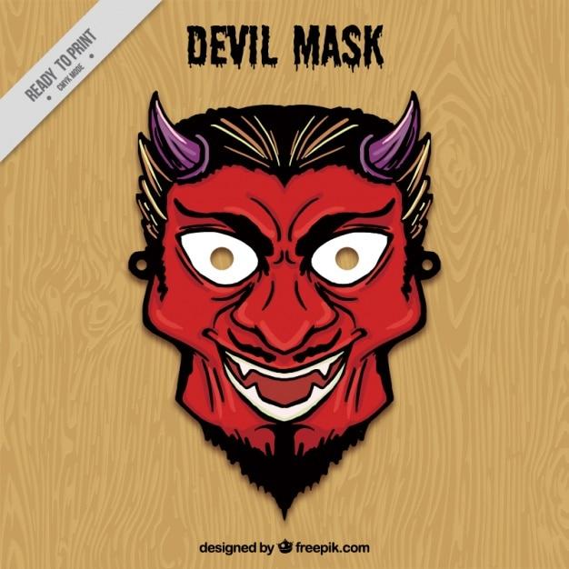 The Devil S Music De Maskers: Hand Drawn Devil Mask Vector
