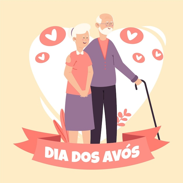Рисованной концепция dia dos avos Бесплатные векторы