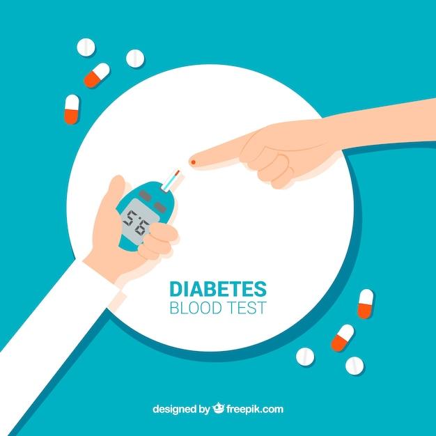 Hand drawn diabetes blood test Free Vector