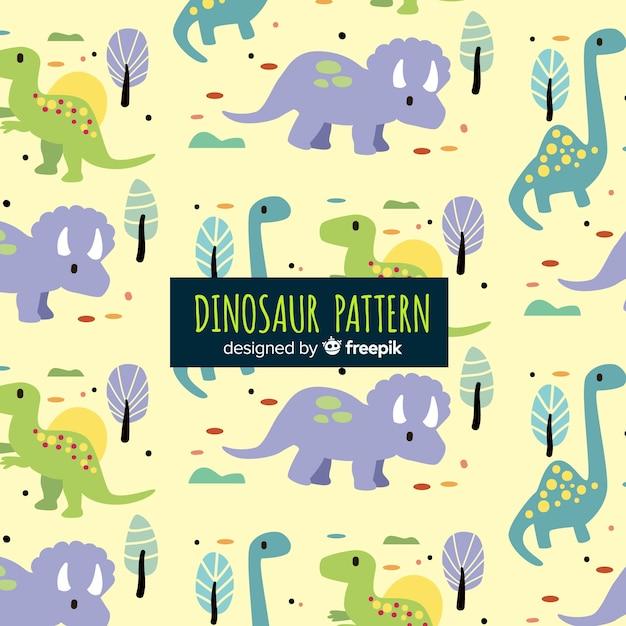 Ручной обращается рисунок динозавра Бесплатные векторы