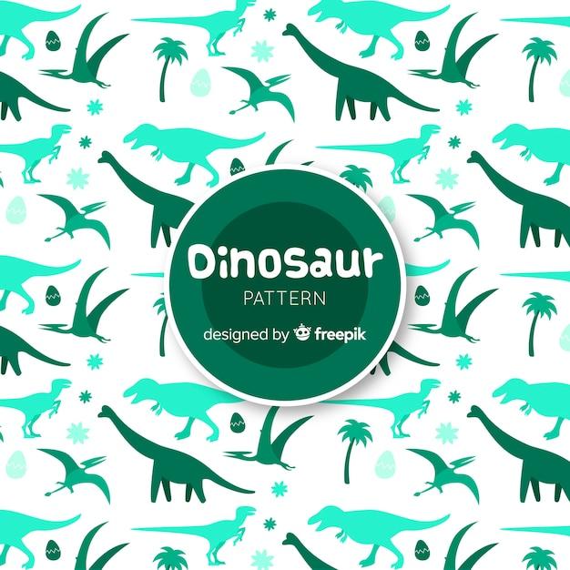 Ручной обращается рисунок силуэтов динозавров Бесплатные векторы