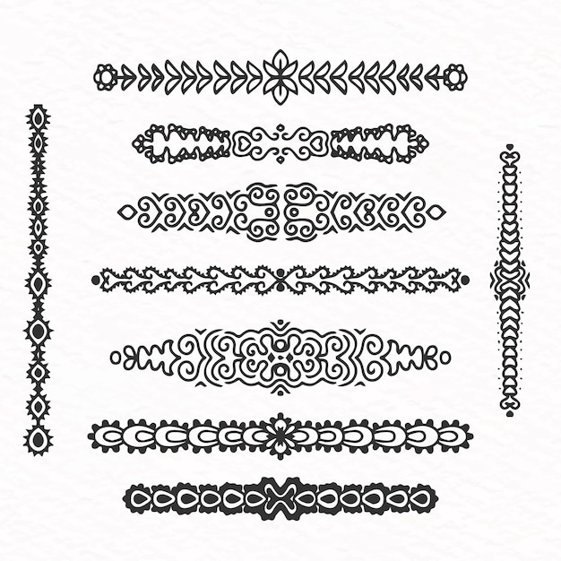 Hand drawn divider pack Free Vector