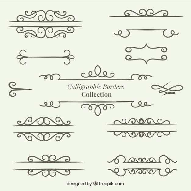 Hand drawn dividers collection Free Vector