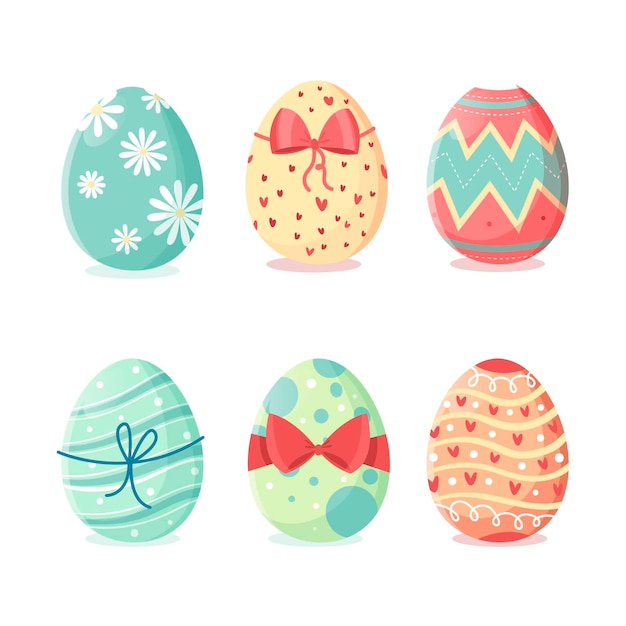 Коллекция рисованной пасхальное яйцо Бесплатные векторы