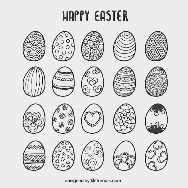 hand drawn easter eggs card stock images page everypixel