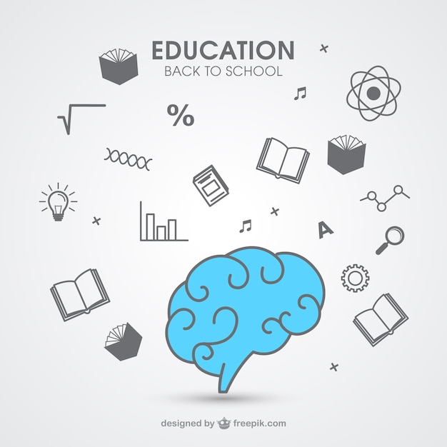 Hand drawn education icons Free Vector
