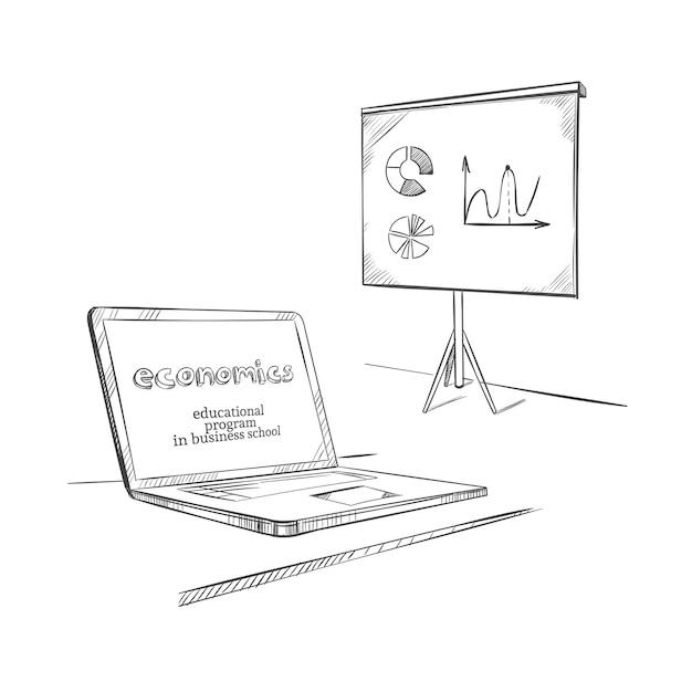 Ручной обращается шаблон образования Бесплатные векторы