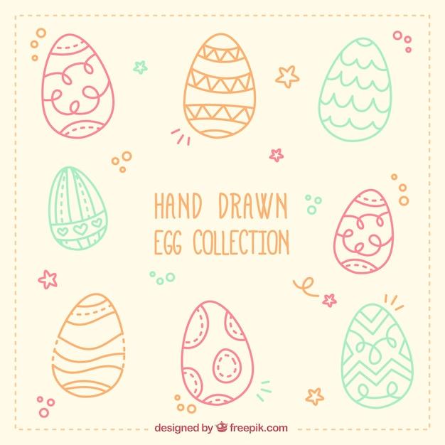 دست جمع آوری تخم مرغ کشیده شده