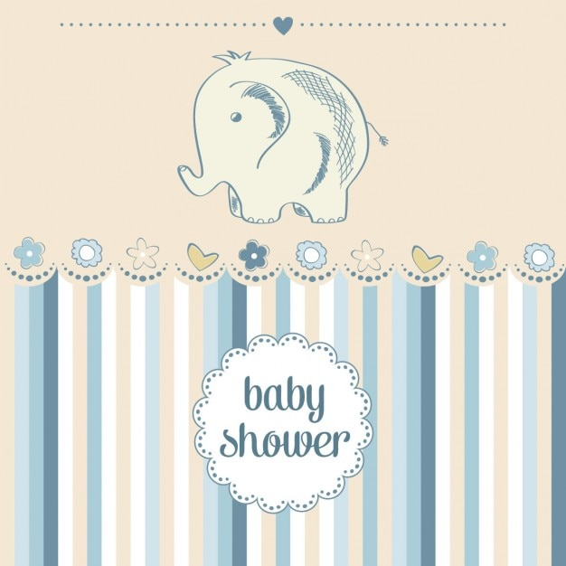 Vector Elephant Baby Shower ~ Hand drawn elephant for baby shower vector free download