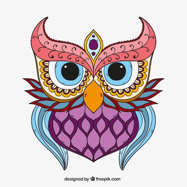 hand drawn ethnic owl vector free download rh freepik com free owl vector file free owl vector file