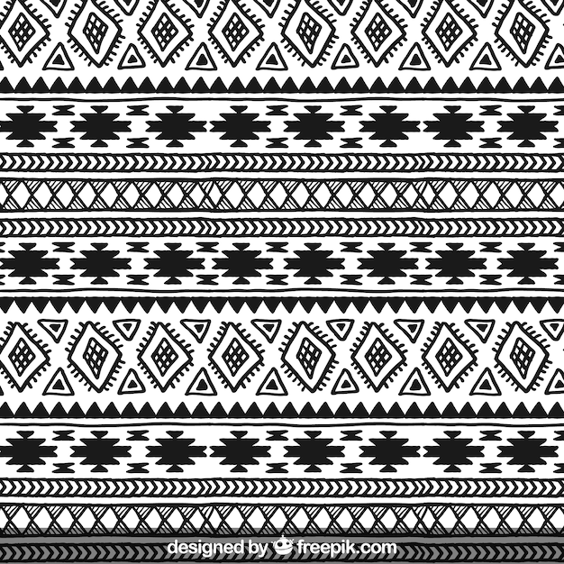 Hand drawn ethnic pattern Free Vector