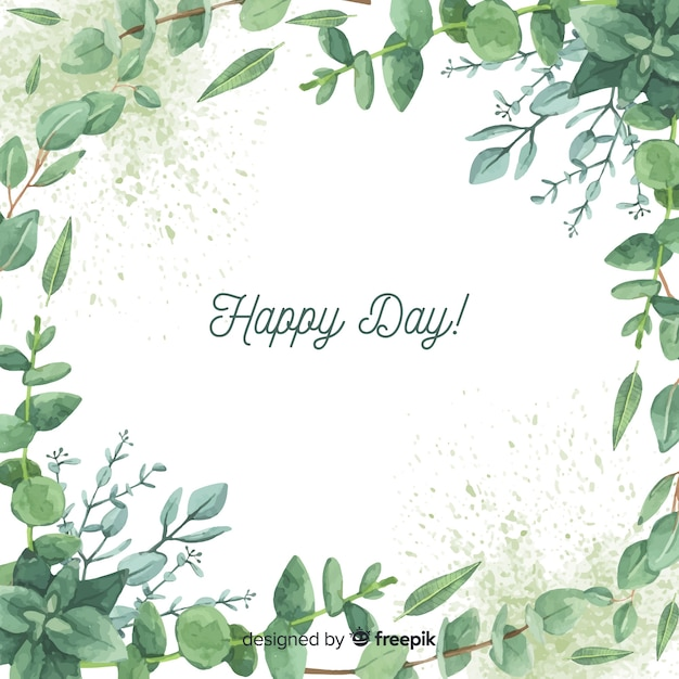 Hand drawn eucalyptus branches background Free Vector
