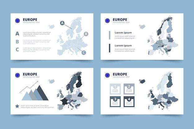 Mappa di europa disegnata a mano infografica Vettore gratuito
