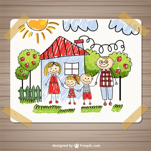 Hand drawn family Free Vector