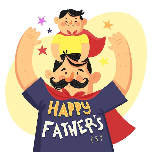 Hand drawn father's day concept Free Vector