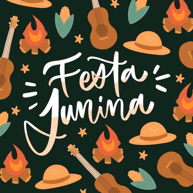 Hand drawn festa junina Free Vector