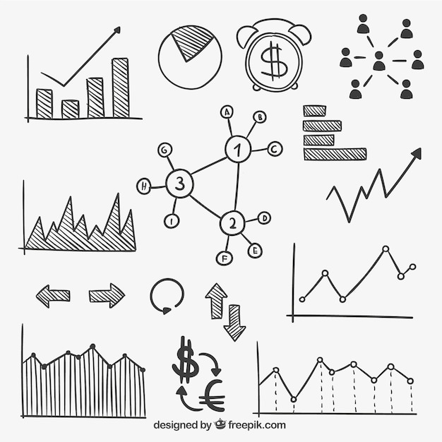 Hand drawn finance infographic Free Vector