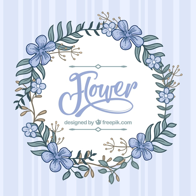 Hand drawn floral background with lovely style Free Vector