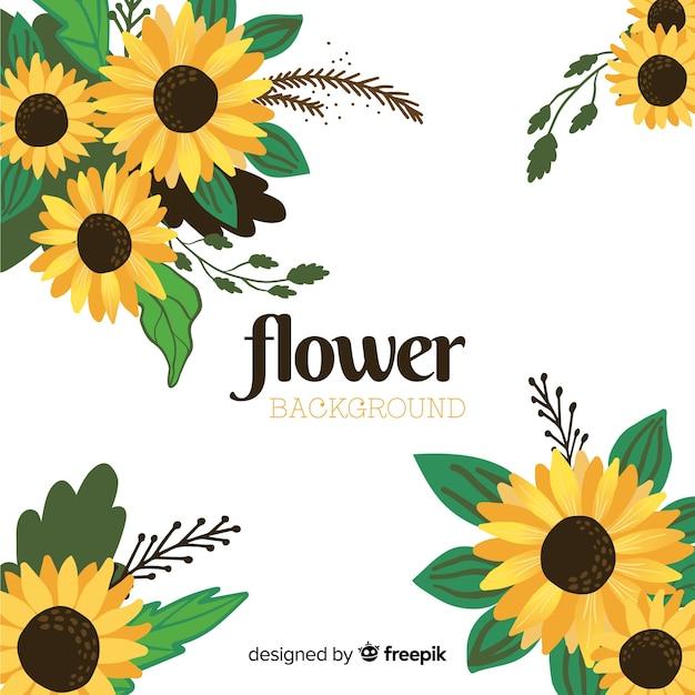 Hand drawn floral background Premium Vector