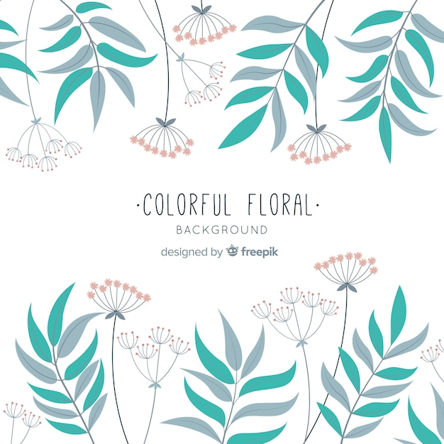 Hand drawn floral background Free Vector