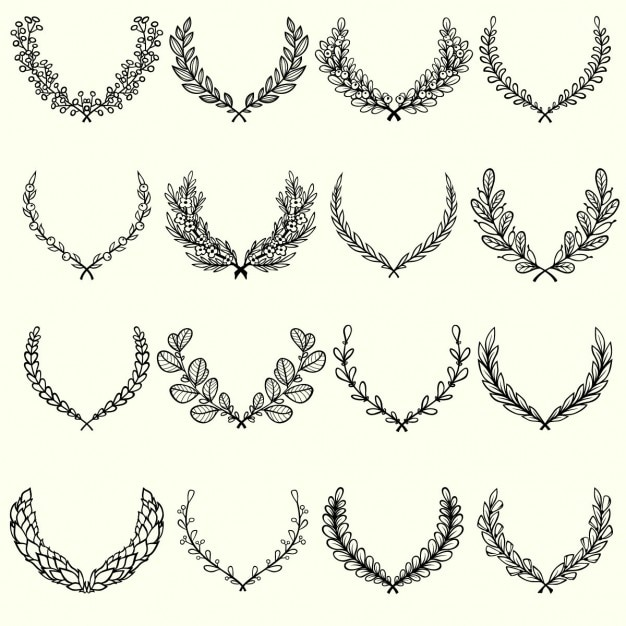 Hand drawn floral collection Free Vector