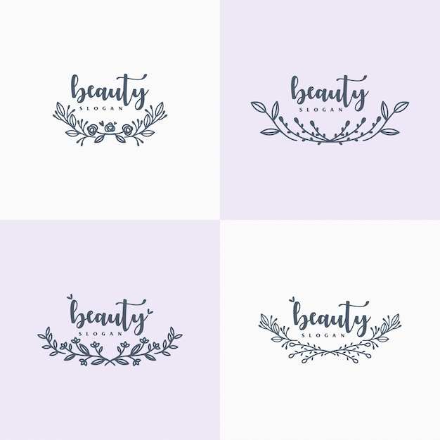 Hand drawn floral ornament Premium Vector