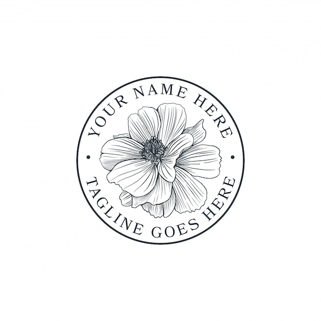 Hand drawn flower Premium Vector