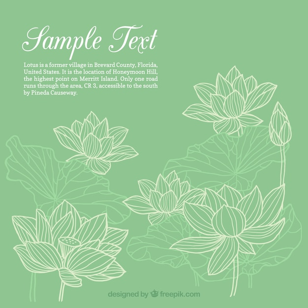 Hand drawn flowers template Premium Vector