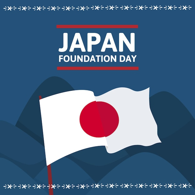 Hand drawn foundation day (japan) background Free Vector