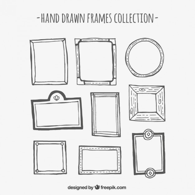 Hand drawn frame collection Free Vector