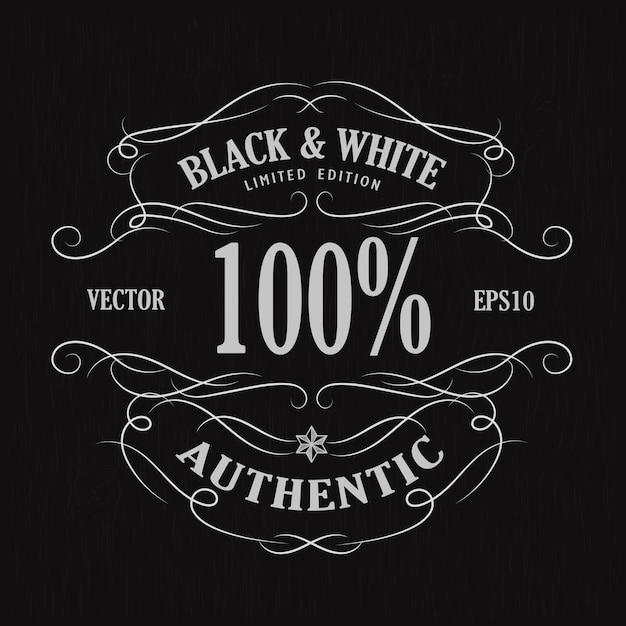 Hand drawn frame label vintage banner retro blackboard vector illustration Premium Vector