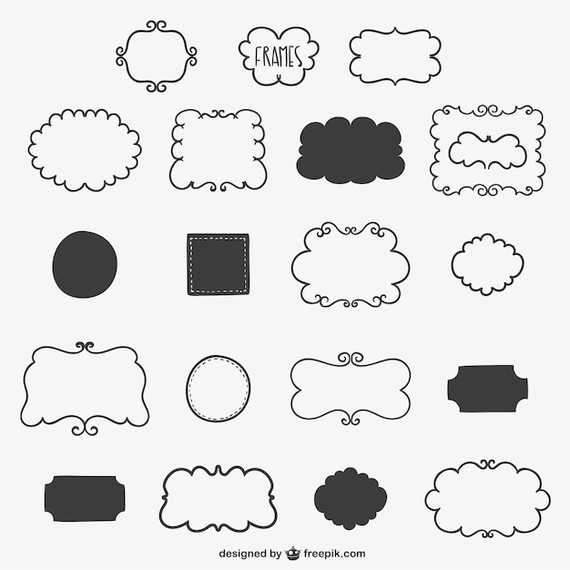 Hand-drawn frames Free Vector