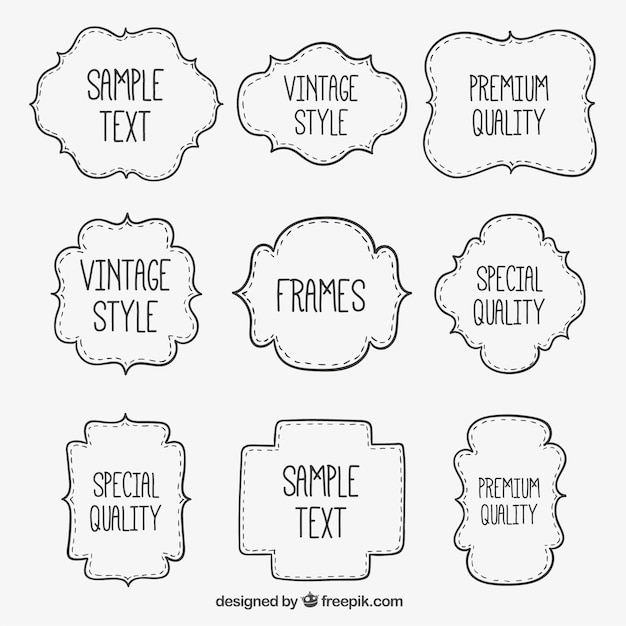 hand drawn frames free vector