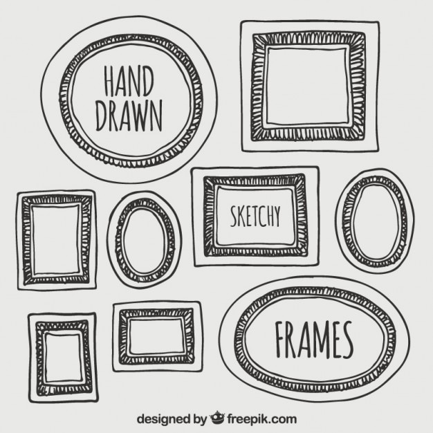 Hand drawn frames Vector | Free Download
