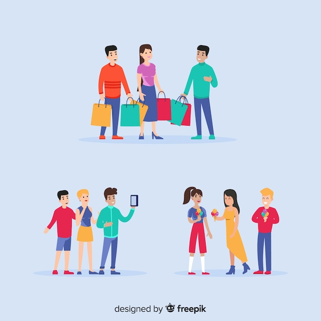 Hand drawn friendship day illustrations Free Vector