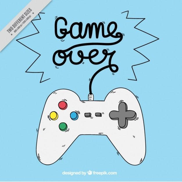Hand drawn game over background  Free Vector