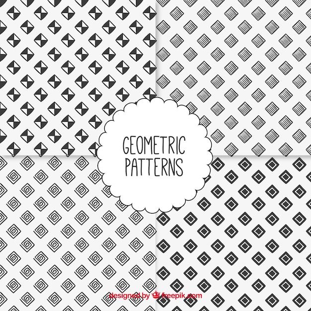 Hand drawn geometric patterns collection