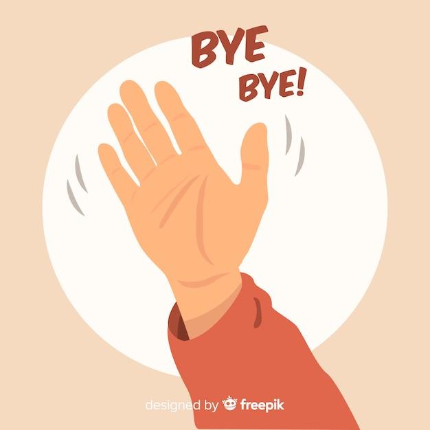 Hand drawn goodbye waving background | Free Vector