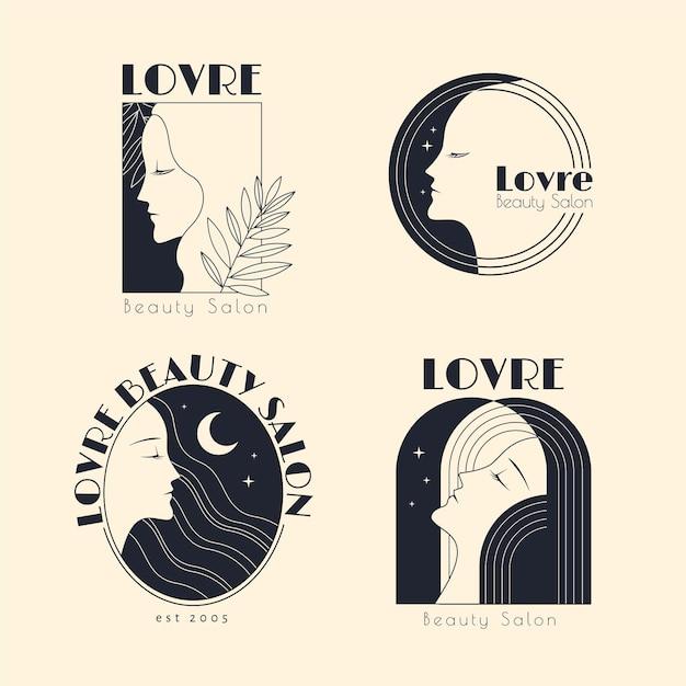 Коллекция логотипов салона красоты Бесплатные векторы