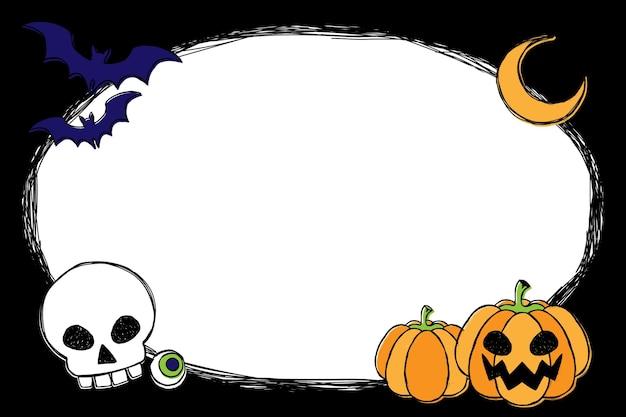 Ручной обращается хэллоуин фон Premium векторы