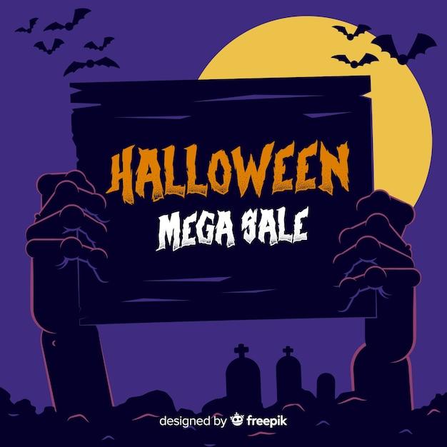 Hand drawn halloween mega sale Free Vector
