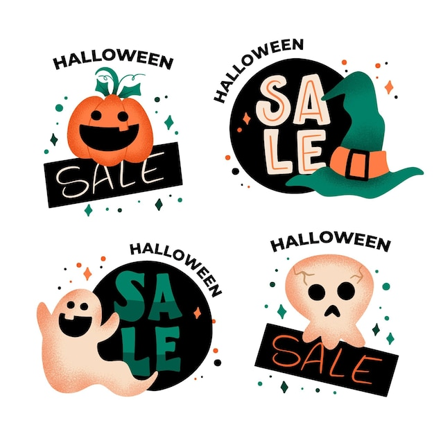 Free Vector | Halloween sale background with pumpkin