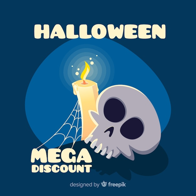 Hand drawn halloween sale composition Free Vector