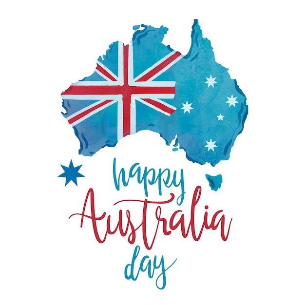 Hand drawn happy australia day Free Vector