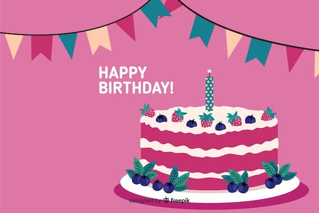 Hand drawn happy birthday background Vector | Free Download