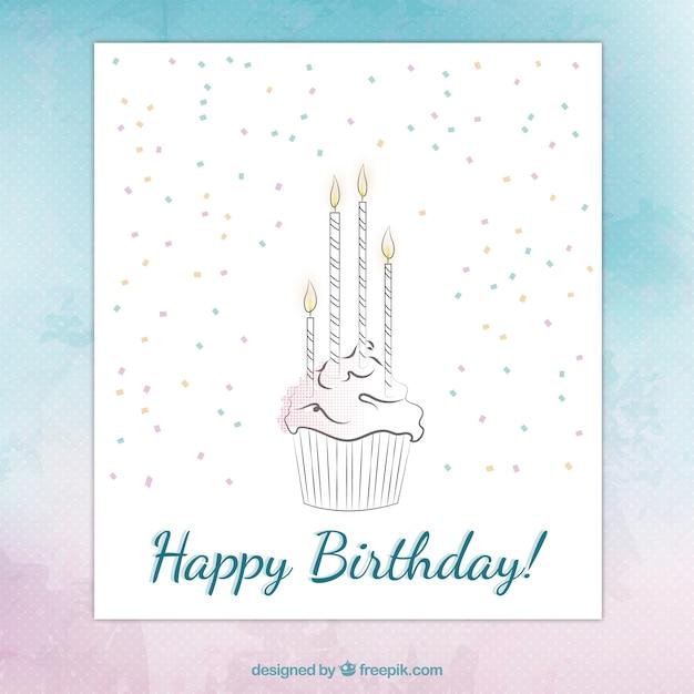 Hand drawn happy birthday card vector free download hand drawn happy birthday card free vector bookmarktalkfo Gallery